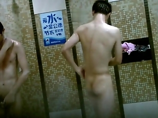 Spy Cam Chinese Swimming Team Locker Room 017