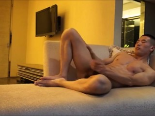 Straight Muscle Model Beautiful Cock Nice Load