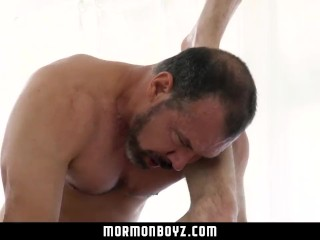 Mormonboyz-skinny Twink Gets Deep Rimmed And Sucked By Big Dick Daddy Bear