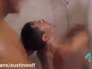 My Latin 21 Yo Boy Is Back Geting Fucked In The Shower: 4my.fans/austinwolf